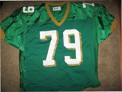 BAYLOR BEARS GAME USED GREEN OLDER STYLE PRACTICE FOOTBALL JERSEY-#79