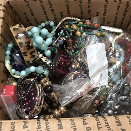 Jewelry Lot 12+POUNDS Vintage Jewelry Wear Repair Craft Lot junk drawer