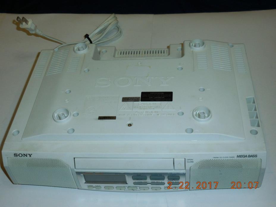 Sony ICF-CD513 - Under Cabinet CD Player / AM FM Clock Radio w/ Mega Bass, Alarm