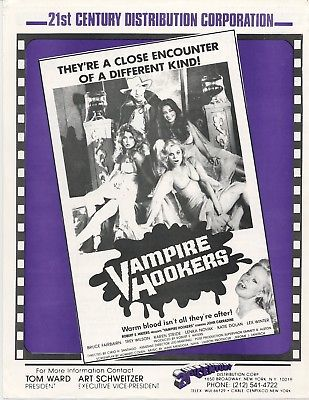 VAMPIRE HOOKERS 1978 Press sheet