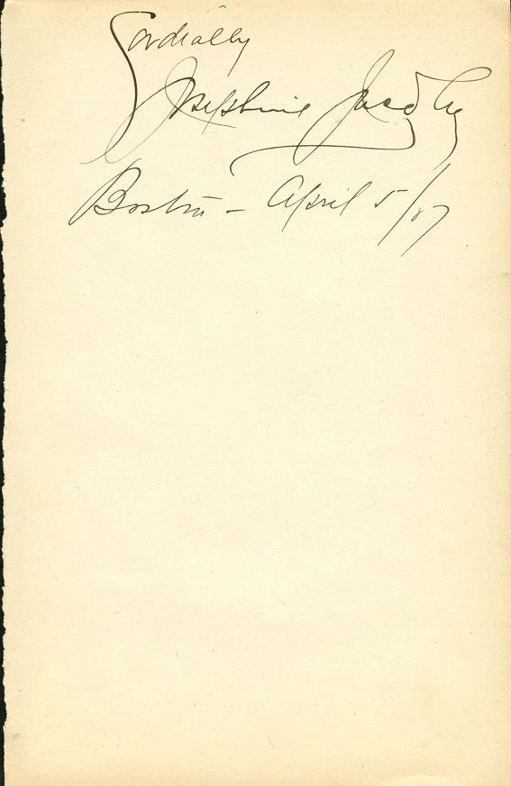 JOSEPHINE JACOBY Autograph - 1917