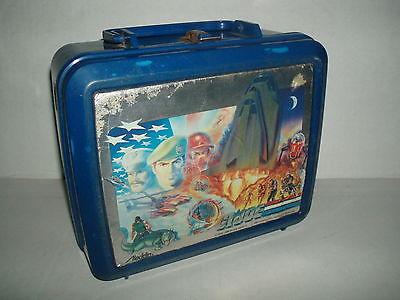 Vintage ALADDIN G.I. Joe Flint Defiant Lunch Box & Thermos 1987 Rare School gi