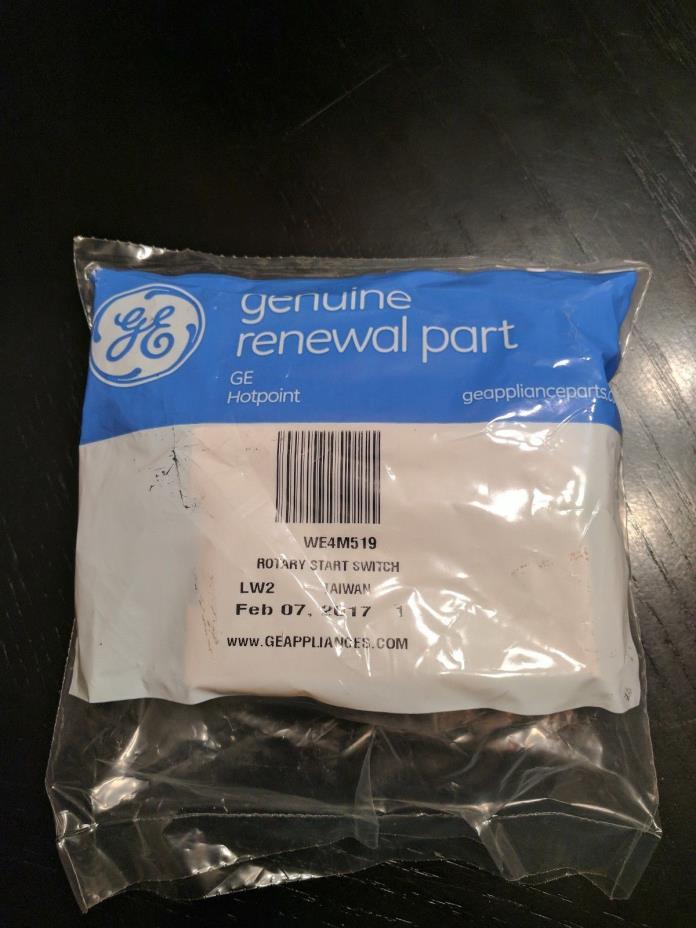 Genuine GE Hotpoint Dryer Rotary Start Switch WE4M519 BRAND NEW