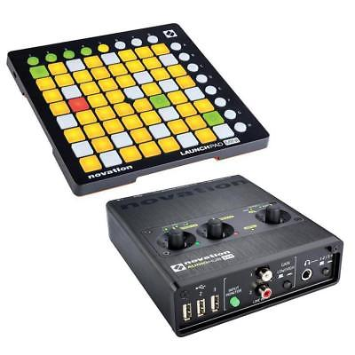 Novation Launchpad Mini MK2 Ableton Live Controller W/Novation Audio 2x4 USB Hub