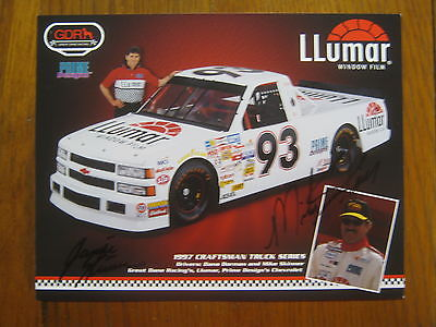 MIKE SKINNER/JAMIE SKINNER (1995 Super Truck Champion)Signed  7 X 9 Color Photo