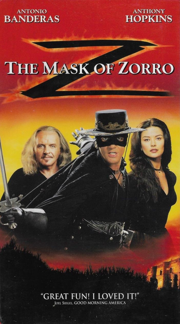 The Mask of Zorro, Antonio Banderas, Catherine Zeta-Jones Brand New & Sealed VHS