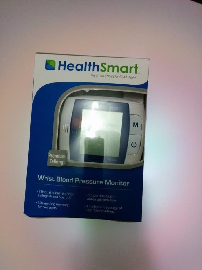 HealthSmart Premium Automatic Wrist Cuff Talking Digital Blood Pressure Monitor