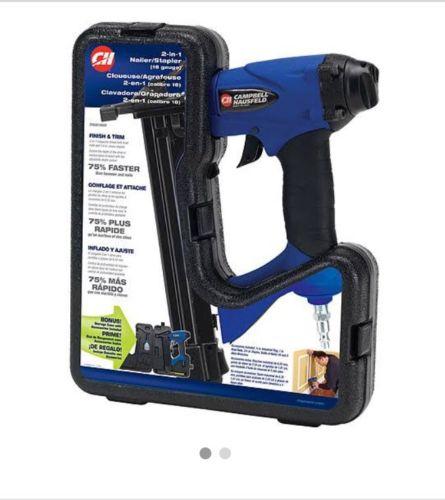 Campbell Hausfeld 1-1/4 Brad Nailer/Stapler 2-In-1 Kit w/Case CHG00100AV
