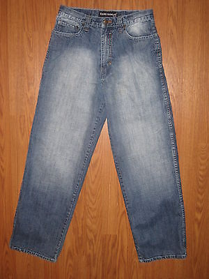 NICE BOY'S EDDIE DOMANI STRAIGHT LEG DENIM JEANS  FLAP POCKETS  SZ 18  ~EUC~