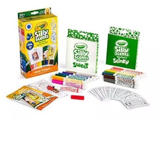 Crayola Silly Scents Scented Marker Activity Gone Camping Kit 52Piece