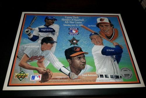 BALTIMORE ALL-STAR GAME  1993 Upper Deck Heroes Of Baseball  Commemorative Sheet