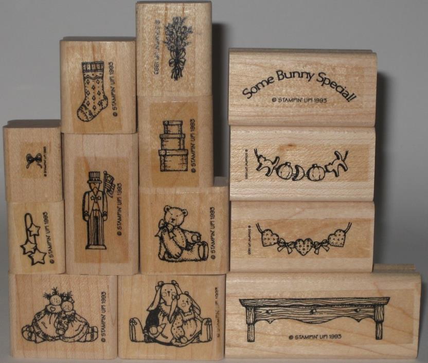Stampin' Up! Rubber Stamp Partial Set of 13 - Decorator Shelf
