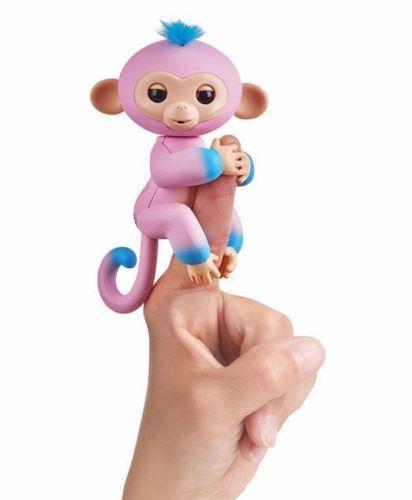 FINGERLINGS WowWee TWO TONE Baby Monkey GANDI Interactive Toy Monkey