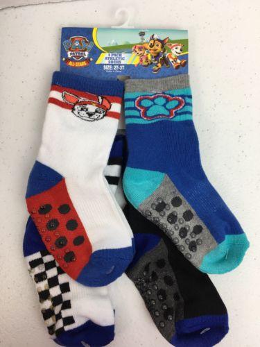 Paw Patrol Socks 4 Pair Slipper Sock 2T-3T  NWT ( B13)