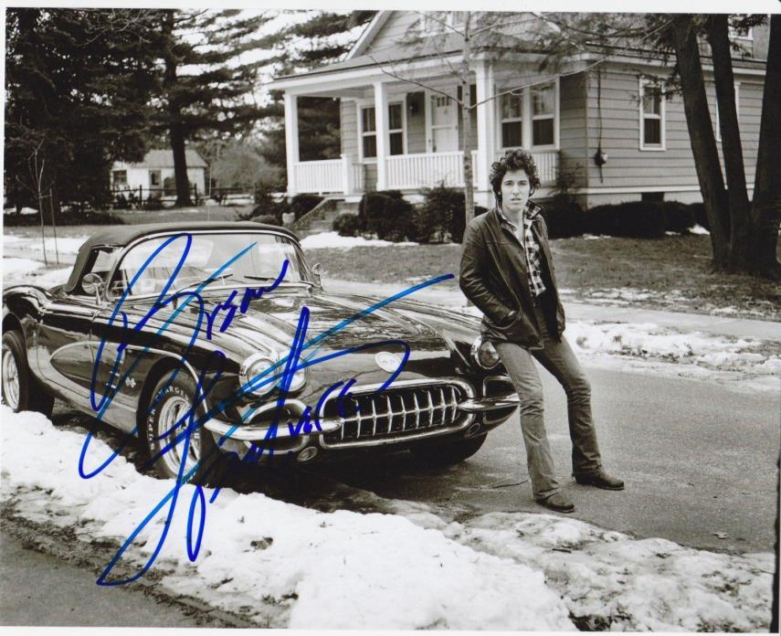 (10) BRUCE SPRINGSTEEN 8 x 10 REPRINT PHOTO & REPRINT AUTOGRAPH ON  PHOTO PAPER