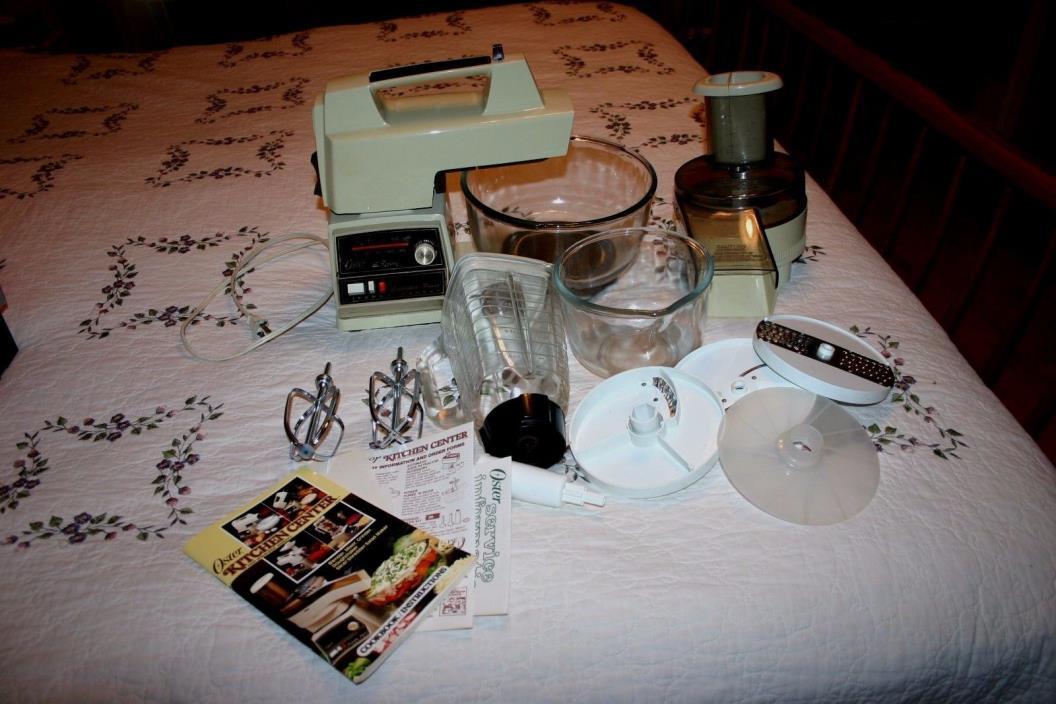 Vintage Oster Regency 10 Speed Kitchen Center Food Processor Blender Mixer