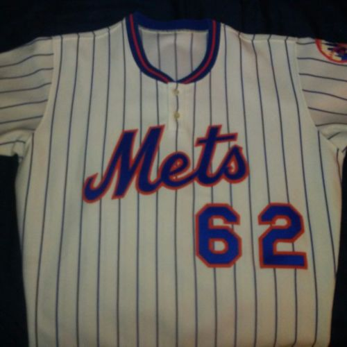 1978 Mets game used home jersey