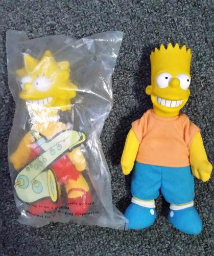 Bart Simpson & Lisa Simpson Dolls, Hard Plastic & Plush (Burger King) Toys 9