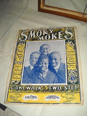 Smoky Mokes 1899 BLACK AMERICANA Abe Holzmann Cakewalk & Two Step Sheet Music!