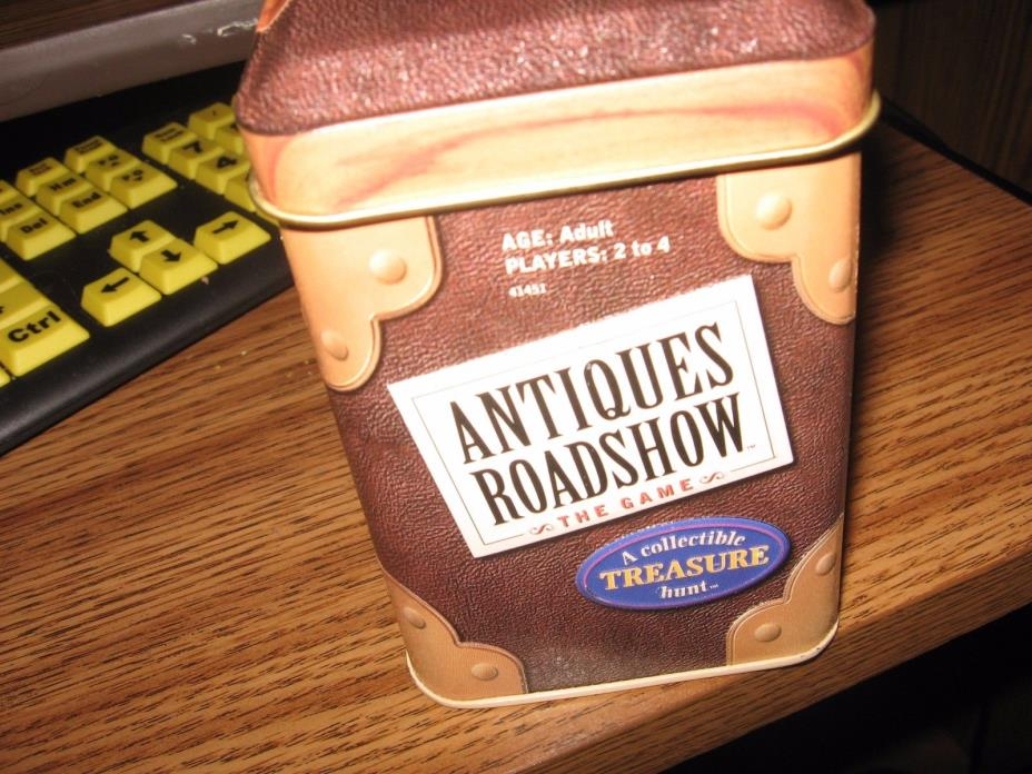 ANTIQUES ROADSHOW TIN BOX  COLLECTIBLE GAME