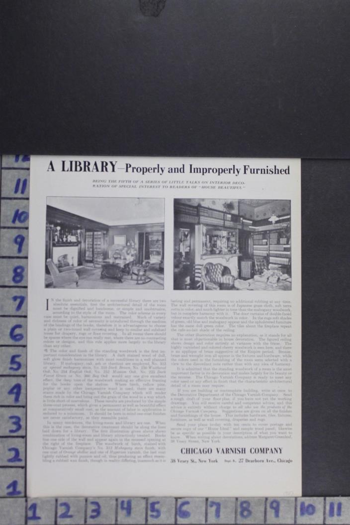 1907 EDWARDIAN ARCHITECTURAL DESIGN CARPENTRY DECOR PAINT CO VINTAGE AD EF003