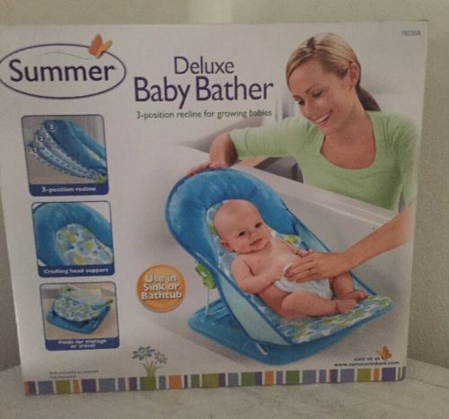 Summer NEW SEALED Blue/Green/White/Black Deluxe Baby Bather