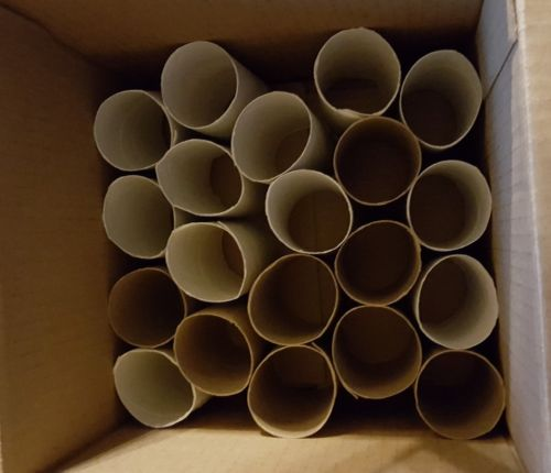 34 Empty toilet paper rolls cleaned, great for craft, schools church