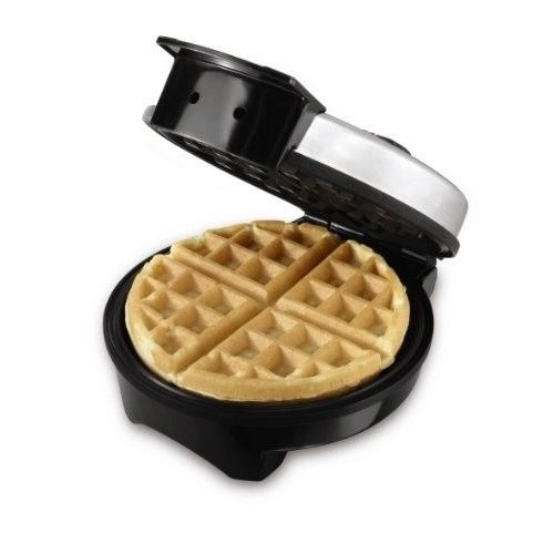 Oster Belgian Waffle Maker 4 Slice Stainless Steel Breakfast Iron Kitchen Silver