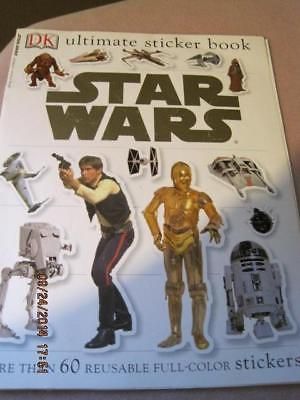 STAR WARS DC ultimate sticker book more than 60 reusable full color 2004 8 p VG