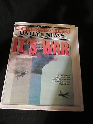 New York Daily News September 12 2001 Its WAR 9/11 attacks Full Newspaper