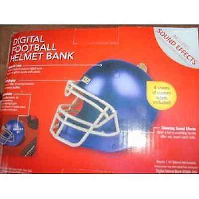 Digital Football Helmet Bank - Blue