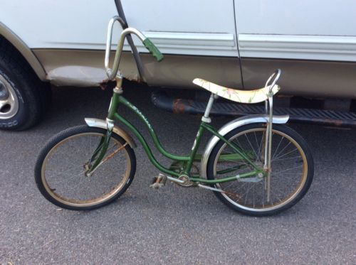 Vintage Schwinn Lil Chik Banana Seat Bike Green Original Condition Complete NICE
