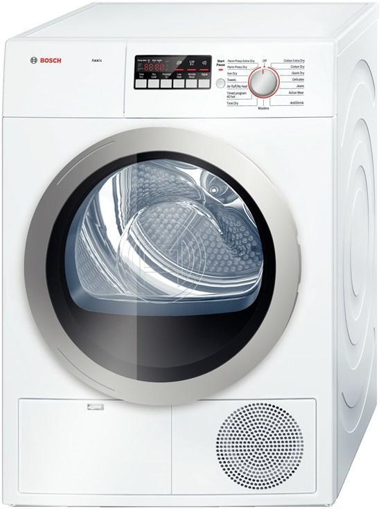 Bosch WTB86201UC Axxis 500 Series Electric Dryer, in White