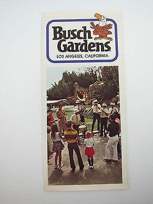 Vintage 70's Busch Gardens Souvenir Brochure California