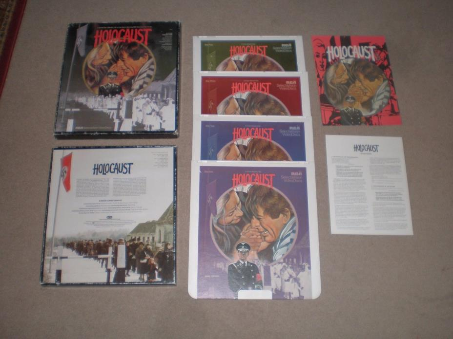 HOLOCAUST CED 4 DISC BOX SET MINI SERIES Meryl Streep Michael Moriarty VERY RARE