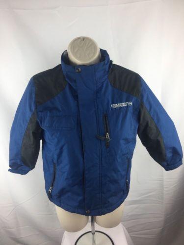 Free Country Fleece Lined Full Zip Jacket Blue Boys Size S 5/6 K31
