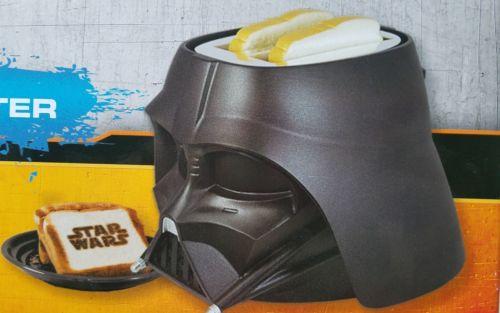 Star Wars Darth Vader Toaster by Pangea Brands In Retail Package 2 Slice Black
