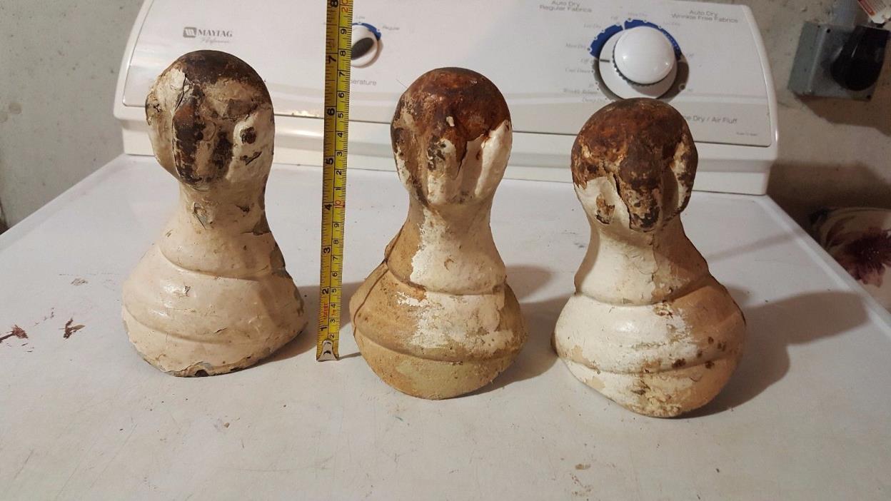 LOT #1 antique ball foot tub legs lot of 3