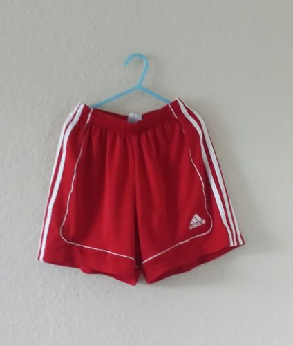 Adidas Climalite red white shorts athletic fitness workout gym boy's size XS
