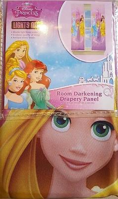 DISNEY Princesses Curtain Drapery Panel Room Darkening 42 in X 63 in