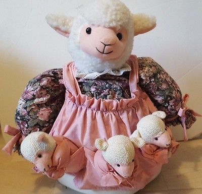 House Of Lloyd Lamb Door Stopper Heavy Cloth Family Of Lambs Very Unique