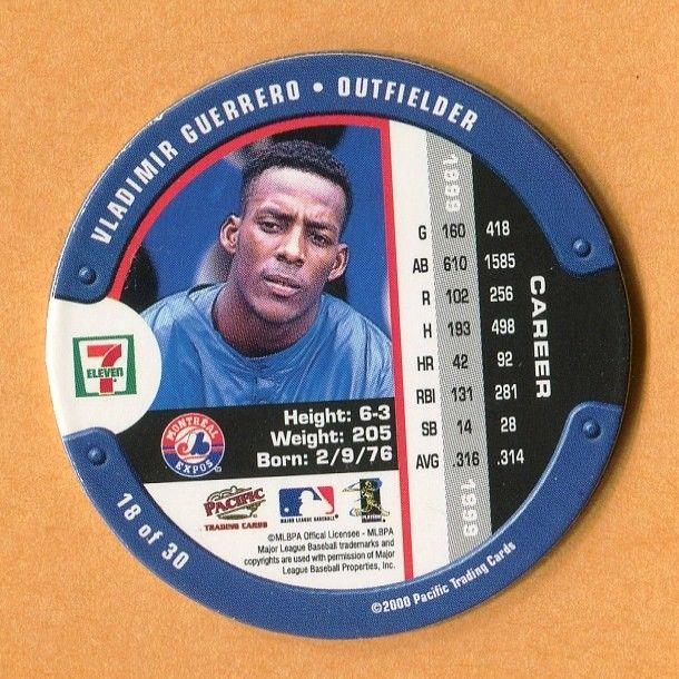 2000 7-11 SLURPEE COIN #18 VLADIMIIR GUERRERO MONTREAL EXPOS