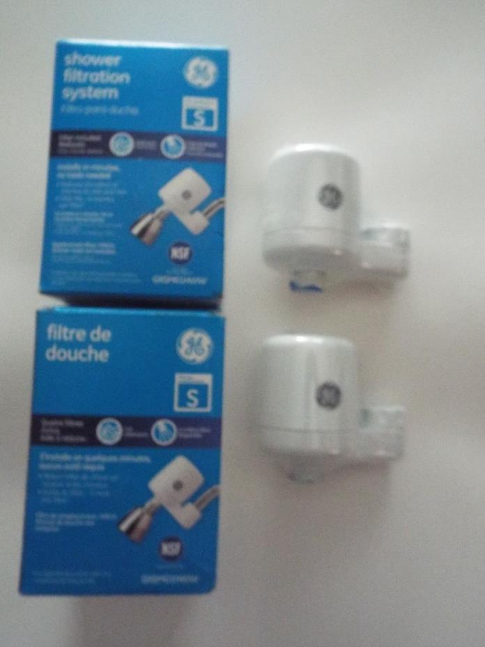 (2) GE Shower Head Filtration System GXSM01HWW Home RV Pool House & More Uses