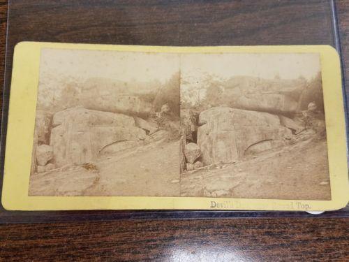 Civil War Gettysburg Battlefield Devils Den Stereoview