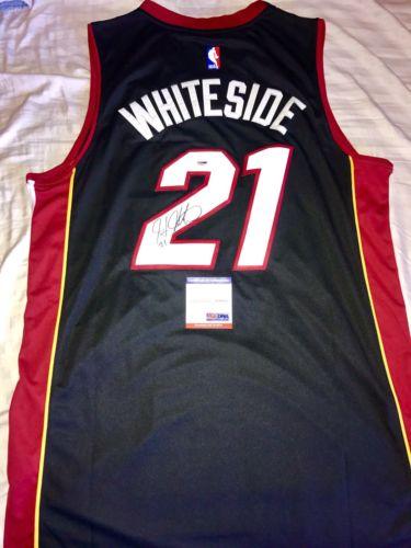 Hassan Whiteside Hand Signed Autographed Miami Heat Jersey NBA PSA DNA CERT