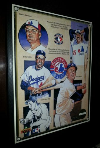 MONTREAL EXPOS 1992 Upper Deck Heroes Of Baseball  Commemorative Sheet #'d SGA