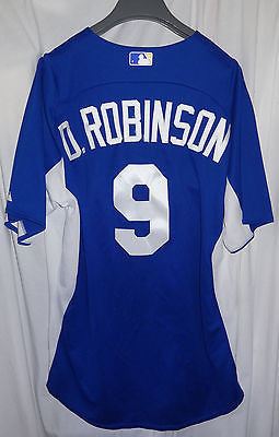 Kansas City Royals #9 DERRICK ROBINSON Game Used Worn Baseball Jersey KC