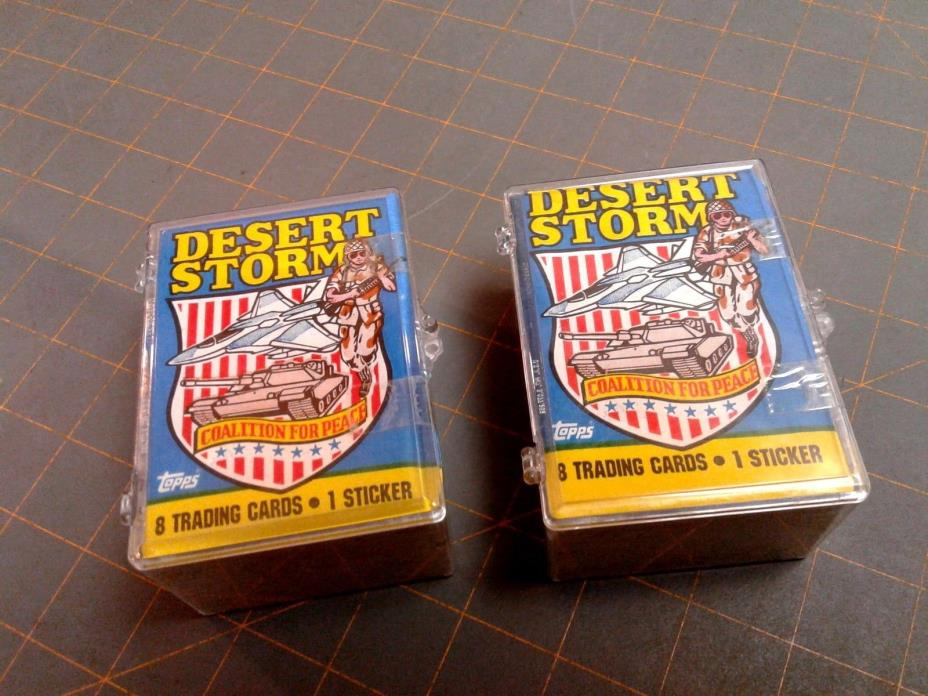 2 DESERT STORM TOPPS SEALED PLASTIC BOXES Coalition for Peace TRADING CARDS