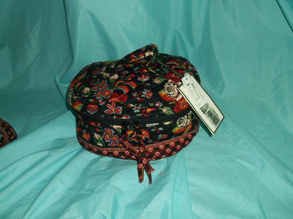 Vera Bradley Rare  Set**Anastasia Travel Cosmetic & Small Jewelry**NWT