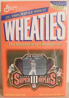 *** Joe Namath N.Y. Jets * Wheaties Box w/Hologram Card - Opened ***